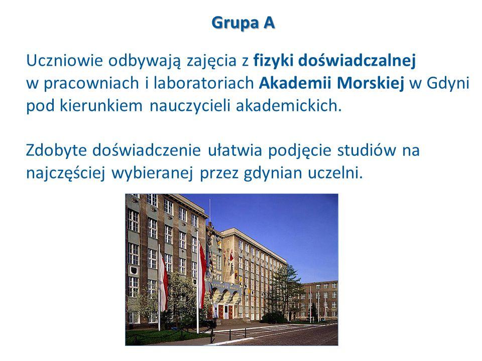 Uczniowie odbywają zajęcia z fizyki doświadczalnej w pracowniach i laboratoriach Akademii Morskiej w Gdyni pod kierunkiem nauczycieli akademickich. Zd