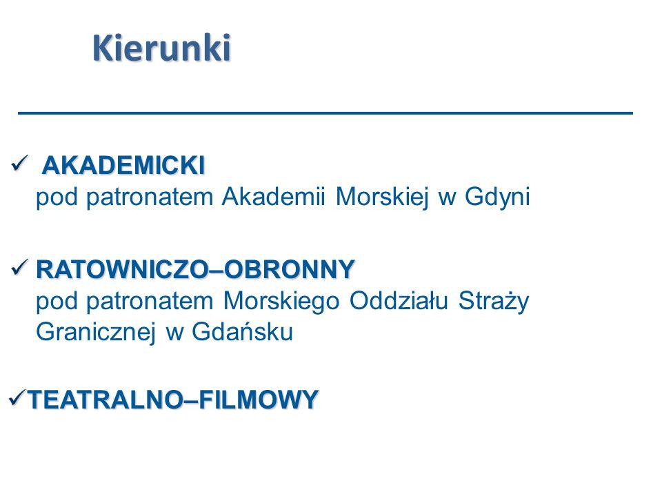 Atutem profilu są zajęcia prowadzone przez pracowników Morskiego Oddziału Straży Granicznej w Gdańsku oraz zajęcia z ratownictwa przedmedycznego.