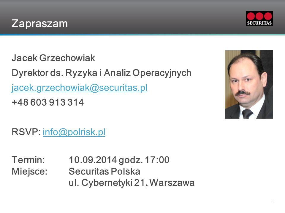 Grid 66 Zapraszam Jacek Grzechowiak Dyrektor ds.