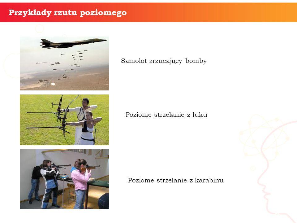 informatyka + 9 Przykłady rzutu poziomego Samolot zrzucający bomby Poziome strzelanie z łuku Poziome strzelanie z karabinu