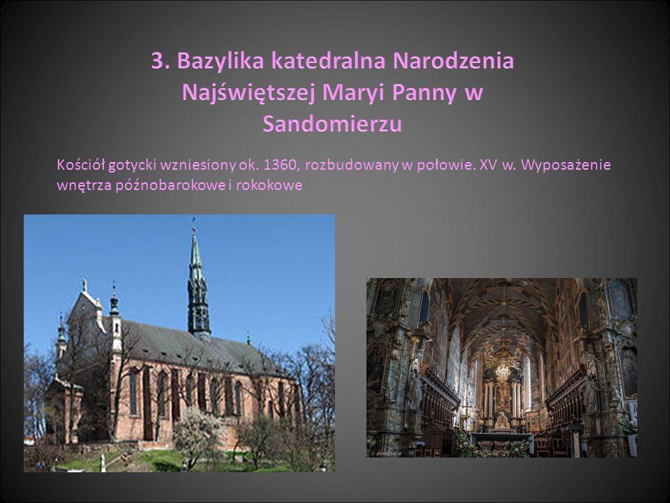 Kościół gotycki wzniesiony ok. 1360, rozbudowany w połowie. XV w. Wyposażenie wnętrza późnobarokowe i rokokowe