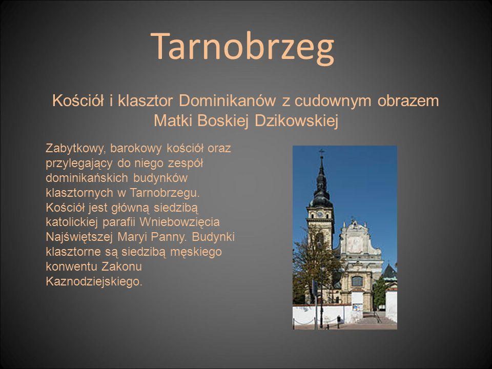 Kościół i klasztor Dominikanów z cudownym obrazem Matki Boskiej Dzikowskiej Tarnobrzeg Zabytkowy, barokowy kościół oraz przylegający do niego zespół d