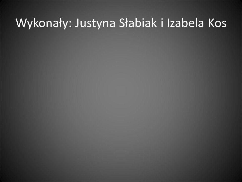 Wykonały: Justyna Słabiak i Izabela Kos