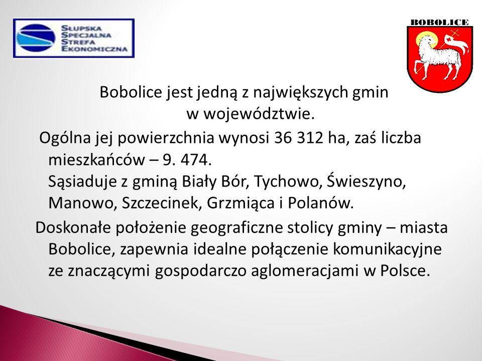 Bobolice jest jedną z największych gmin w województwie.