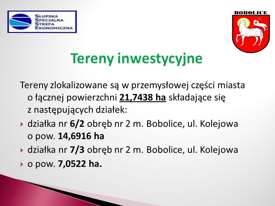 Tereny zlokalizowane są w przemysłowej części miasta o łącznej powierzchni 21,7438 ha składające się z następujących działek:  działka nr 6/2 obręb nr 2 m.