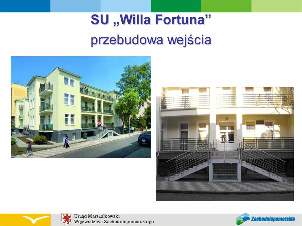 """SU """"Willa Fortuna"""" przebudowa wejścia"""