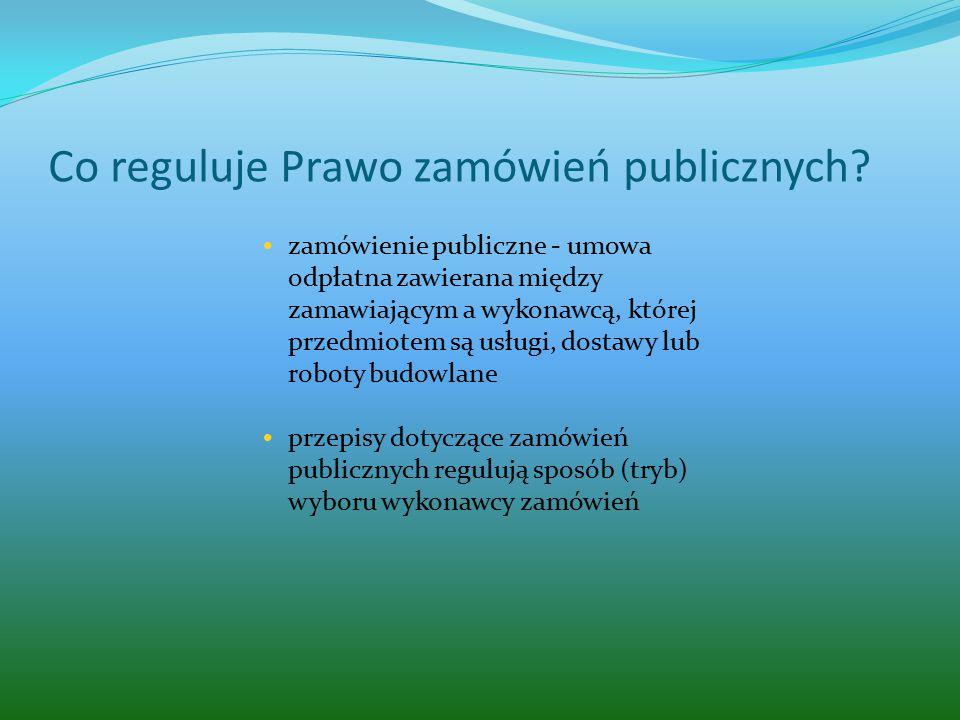 Co reguluje Prawo zamówień publicznych.