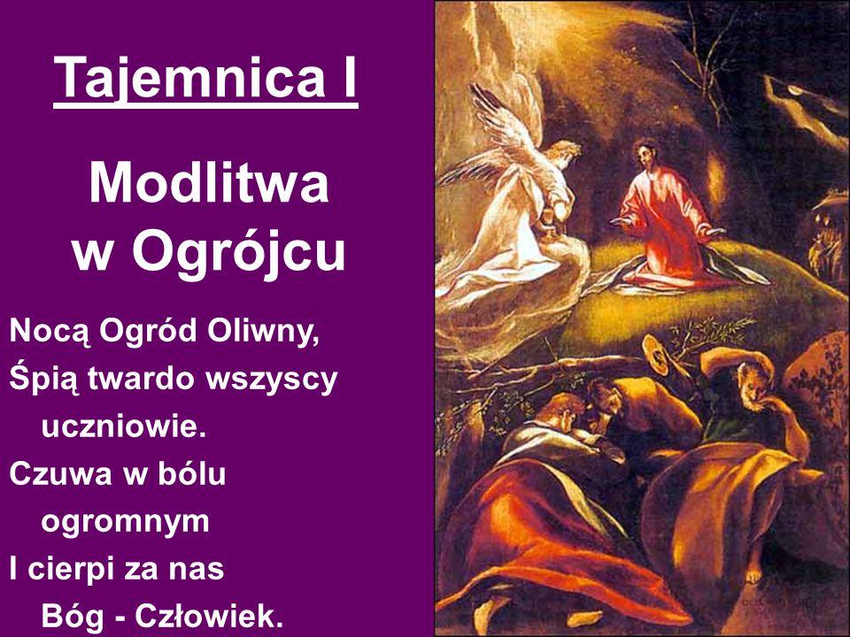 Modlitwa w Ogrójcu Nocą Ogród Oliwny, Śpią twardo wszyscy uczniowie.