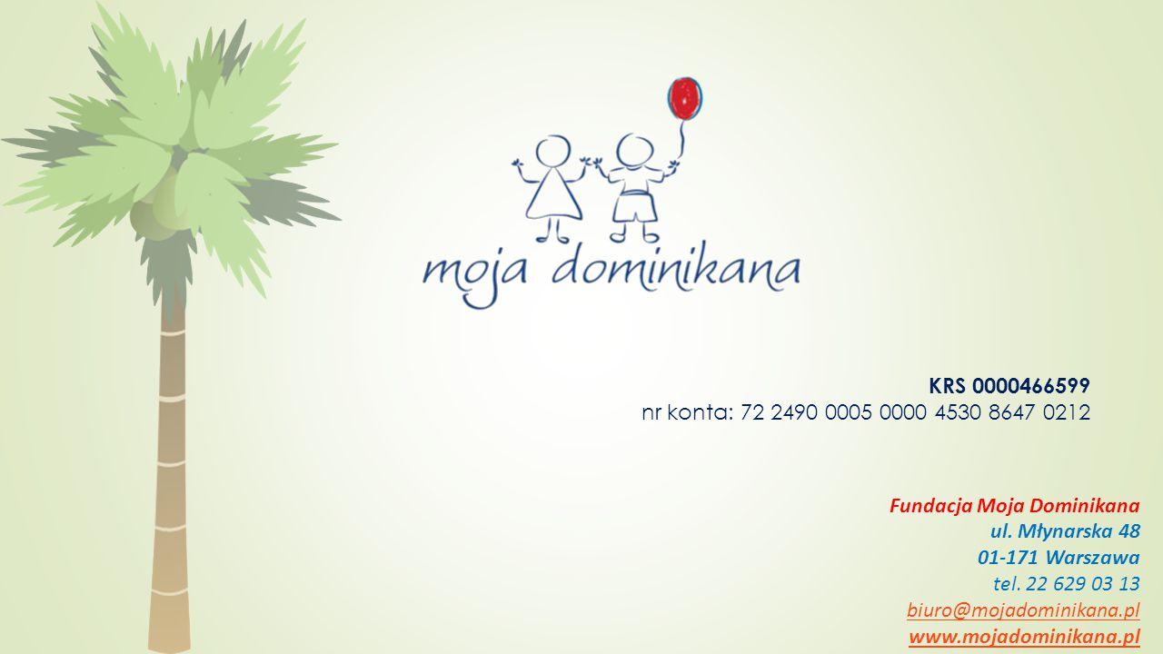 Fundacja Moja Dominikana ul. Młynarska 48 01-171 Warszawa tel.