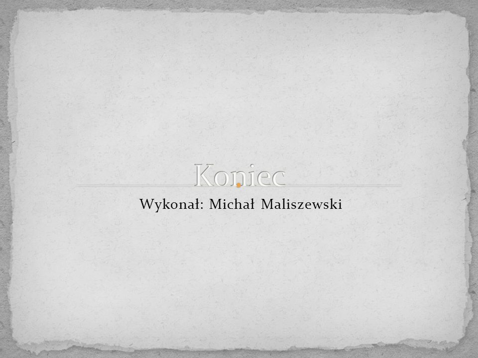 Wykonał: Michał Maliszewski