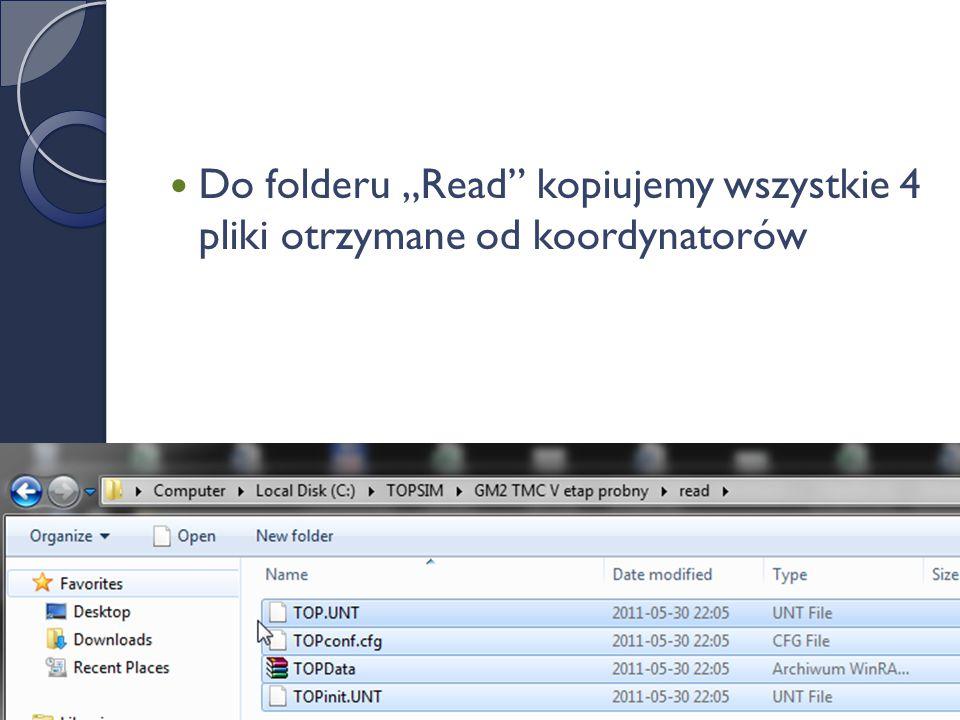Włączenie symulacji Włączamy program przez plik: Toptln.exe