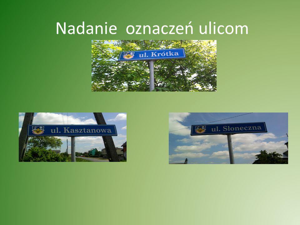 Nadanie oznaczeń ulicom