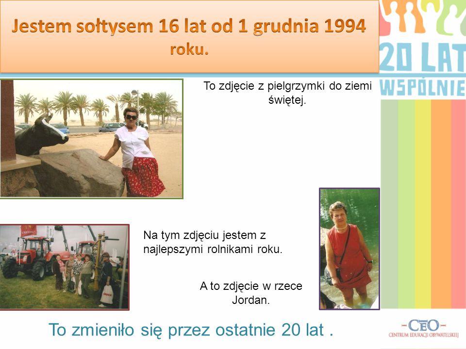 To zmieniło się przez ostatnie 20 lat. To zdjęcie z pielgrzymki do ziemi świętej. A to zdjęcie w rzece Jordan. Na tym zdjęciu jestem z najlepszymi rol