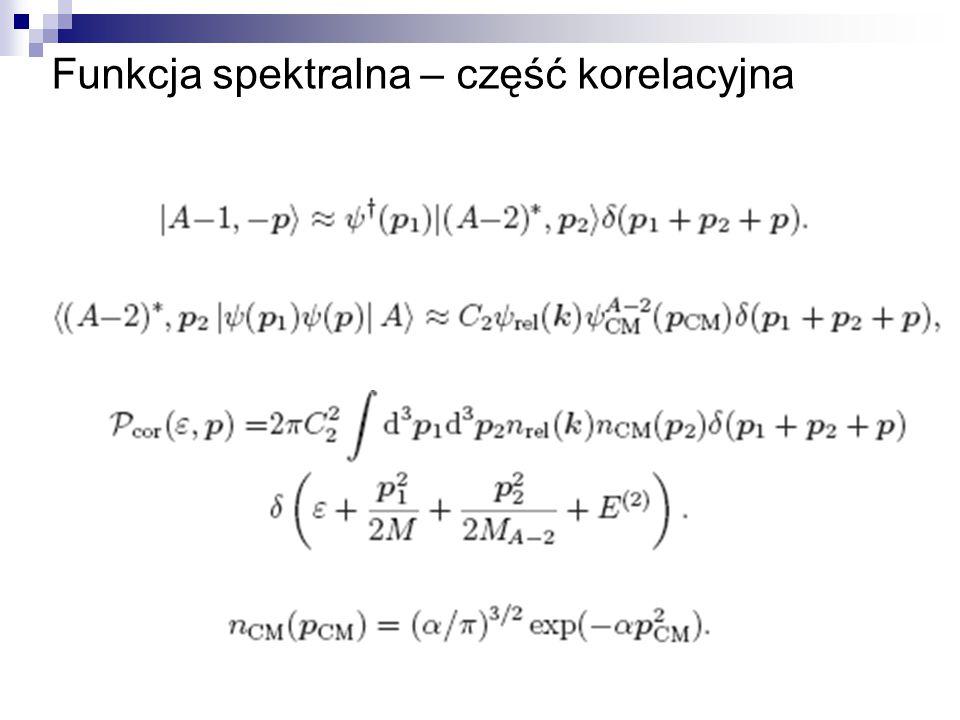 Funkcja spektralna – część korelacyjna
