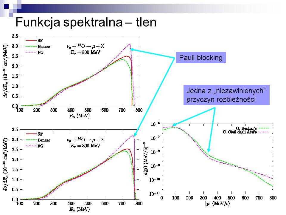 """Funkcja spektralna – tlen Pauli blocking Jedna z """"niezawinionych przyczyn rozbieżności"""