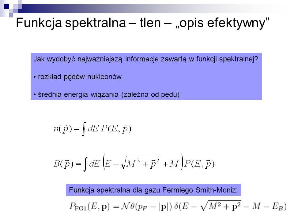 """Funkcja spektralna – tlen – """"opis efektywny Jak wydobyć najważniejszą informacje zawartą w funkcji spektralnej."""