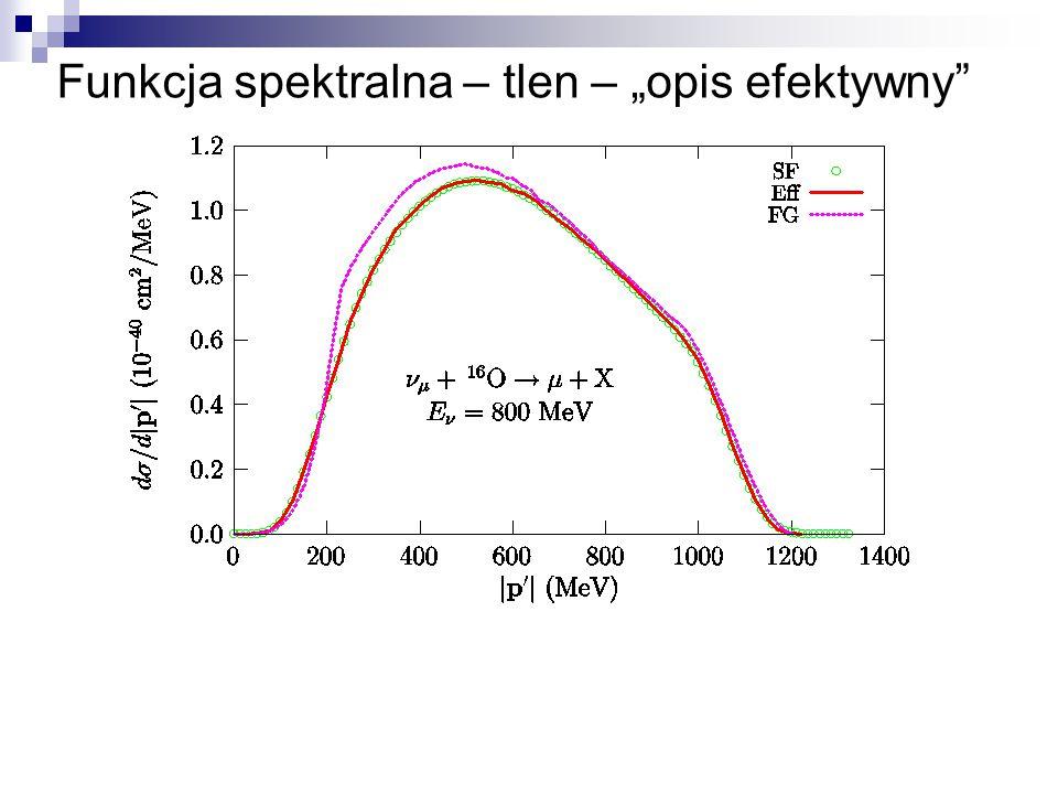 "Funkcja spektralna – tlen – ""opis efektywny"