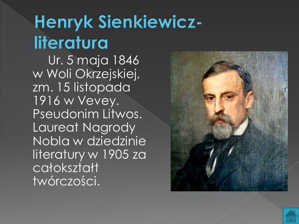 Ur.5 maja 1846 w Woli Okrzejskiej, zm. 15 listopada 1916 w Vevey.