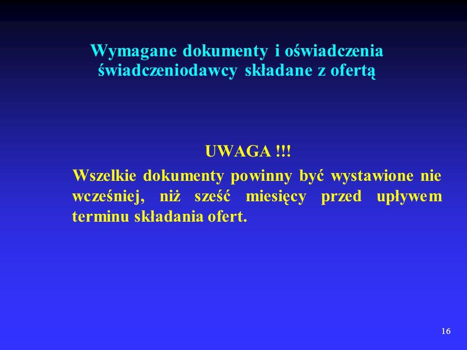 16 UWAGA !!.