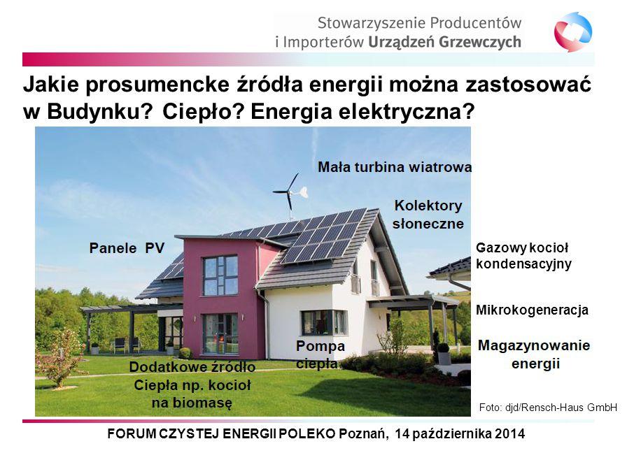 FORUM CZYSTEJ ENERGII POLEKO Poznań, 14 października 2014 Jakie prosumencke źródła energii można zastosować w Budynku? Ciepło? Energia elektryczna? Ga