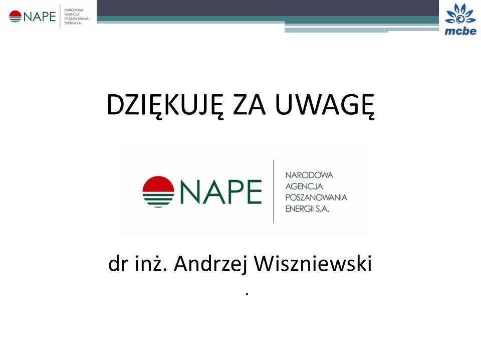 DZIĘKUJĘ ZA UWAGĘ dr inż. Andrzej Wiszniewski.