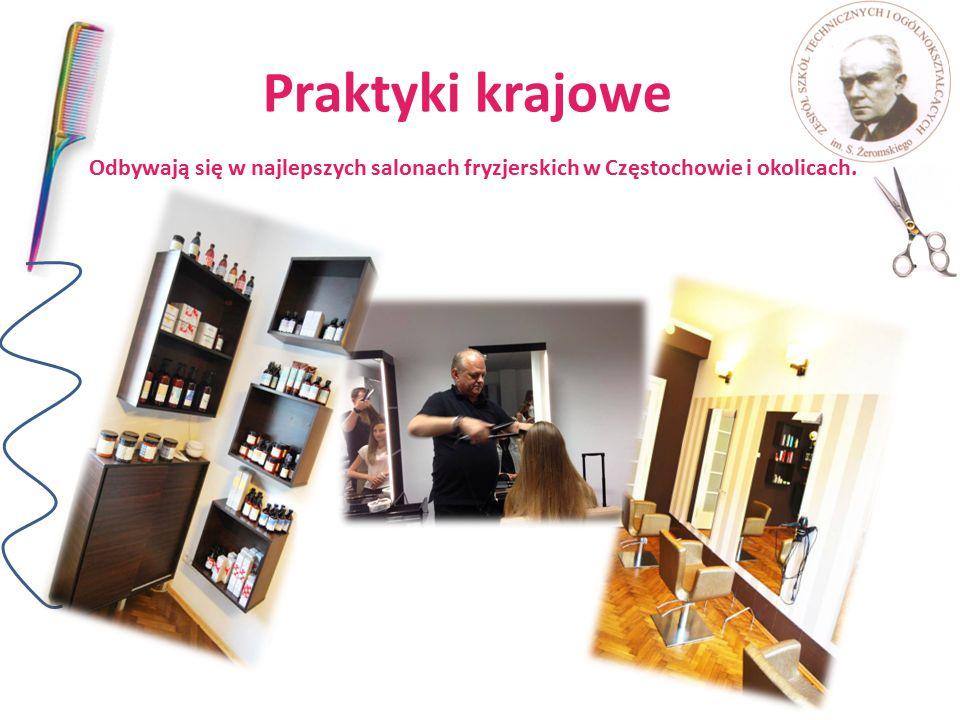 Praktyki krajowe Odbywają się w najlepszych salonach fryzjerskich w Częstochowie i okolicach.