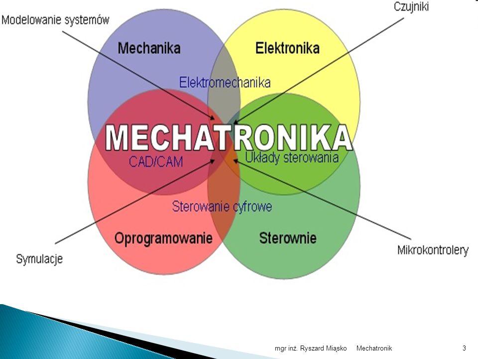 Mechatronikmgr inż. Ryszard Miąsko14