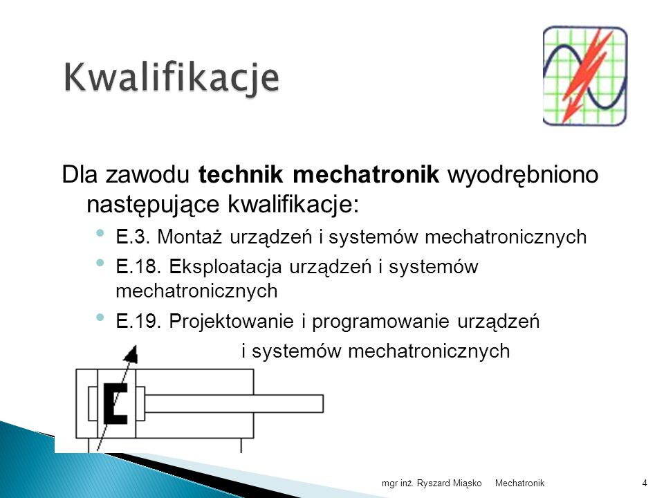 Mechatronikmgr inż. Ryszard Miąsko15