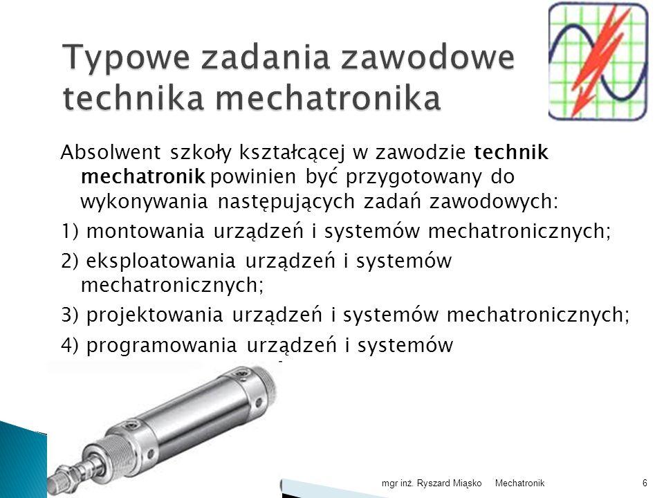 Mechatronikmgr inż. Ryszard Miąsko27