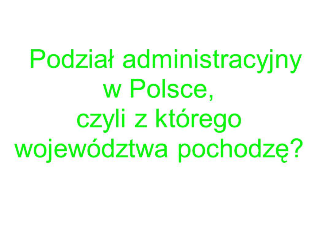 Podział administracyjny w Polsce, czyli z którego województwa pochodzę?