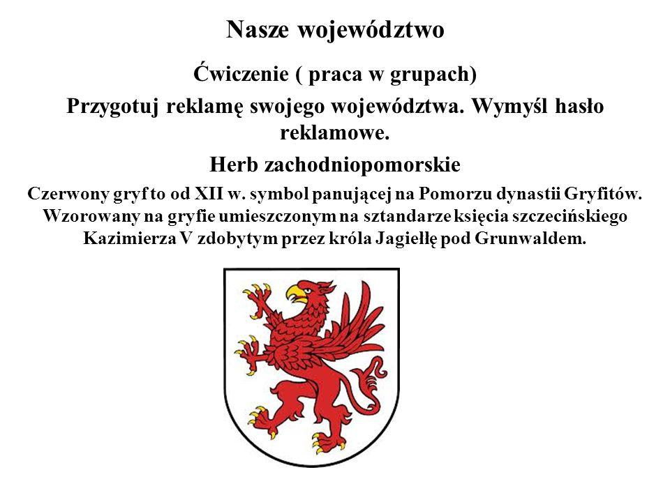 Nasze województwo Ćwiczenie ( praca w grupach) Przygotuj reklamę swojego województwa.