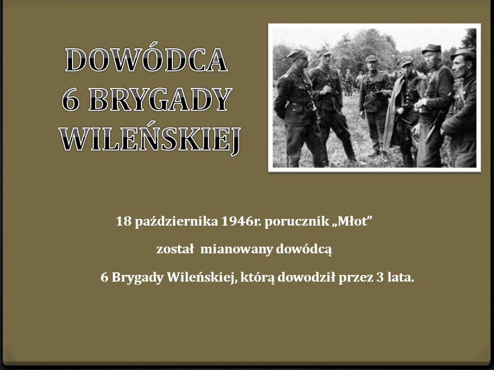"""por. Władysław Łukasiuk Młot"""" i st. sierż. Józef Babicz Żwirko , Podlasie, 1946 r."""