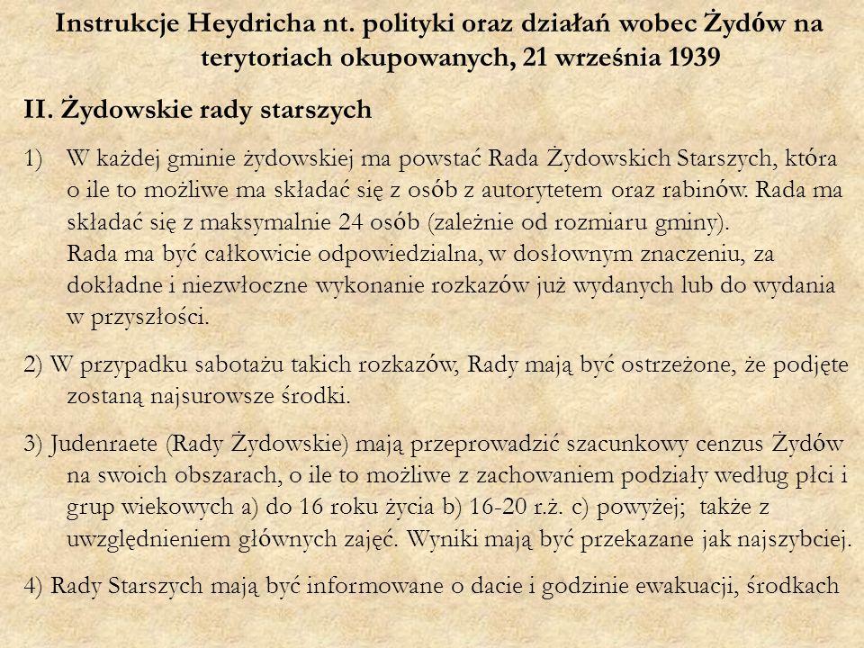 Instrukcje Heydricha nt.