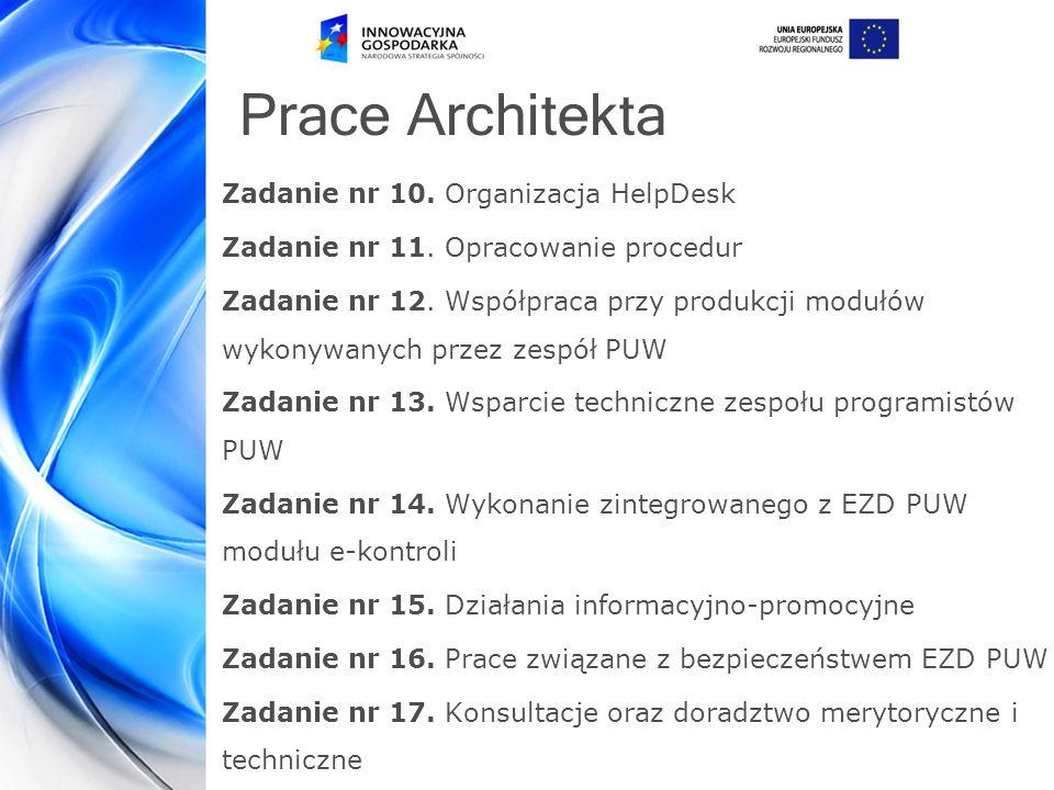 Prace Architekta Zadanie nr 10.Organizacja HelpDesk Zadanie nr 11.