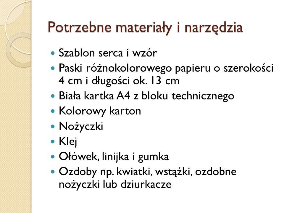 Materiały i narzędzia
