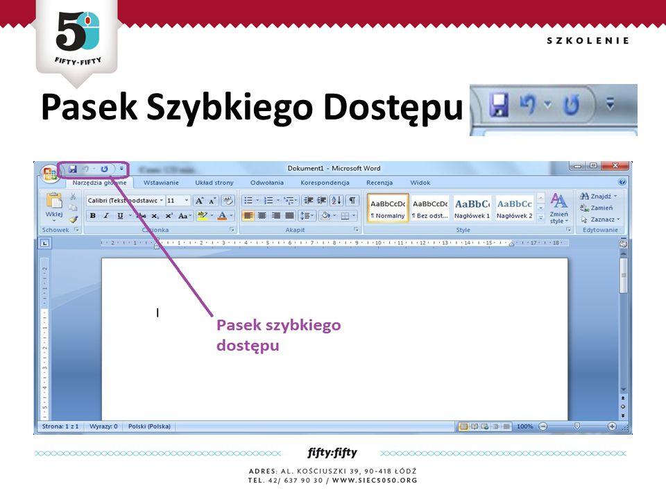 Pasek Szybkiego Dostępu Jest zaawansownym edytorem tekstu, który zawiera rozbudowany zestaw narzędzi do tworzenia różnego rodzaju dokumentów.