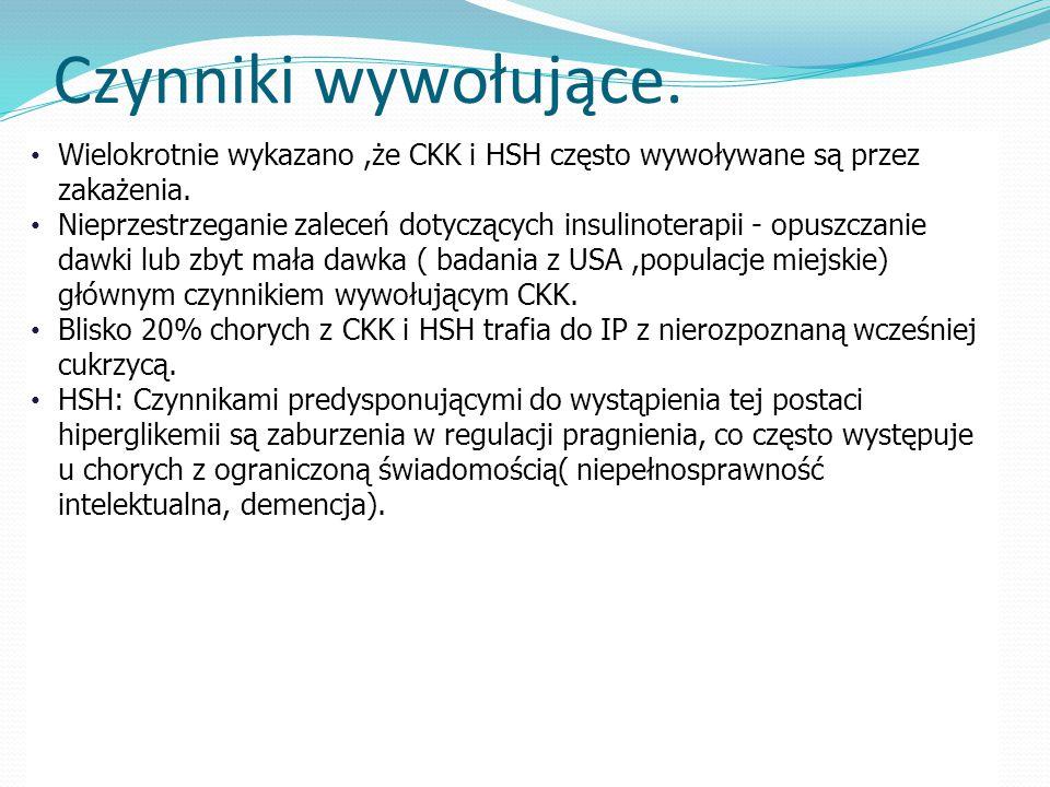 Czynniki wywołujące.Wielokrotnie wykazano,że CKK i HSH często wywoływane są przez zakażenia.