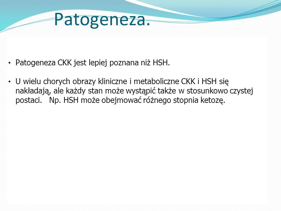 Patogeneza.Patogeneza CKK jest lepiej poznana niż HSH.
