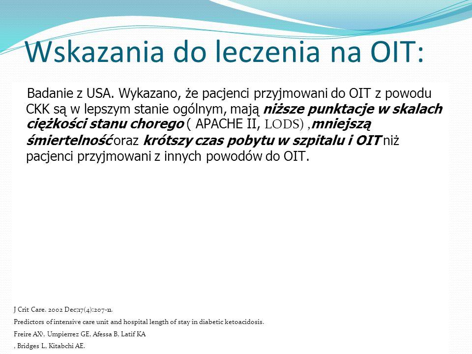 Wskazania do leczenia na OIT: Badanie z USA.