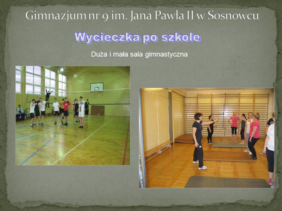 Duża i mała sala gimnastyczna
