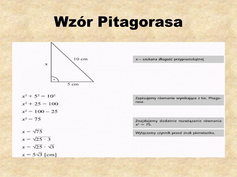 Wzór Pitagorasa