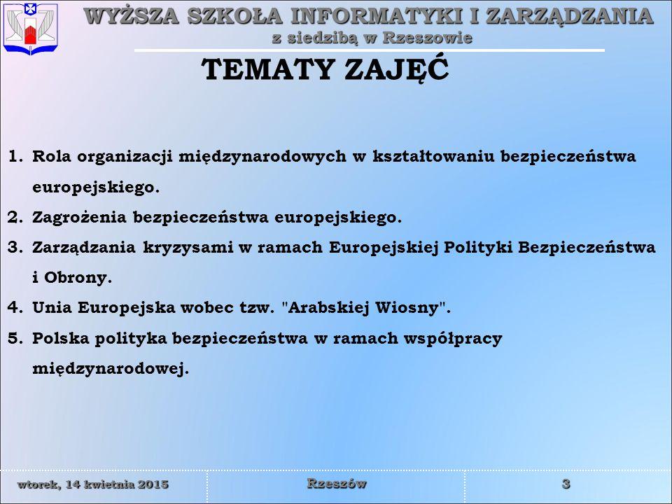 WYŻSZA SZKOŁA INFORMATYKI I ZARZĄDZANIA z siedzibą w Rzeszowie 24 wtorek, 14 kwietnia 2015wtorek, 14 kwietnia 2015wtorek, 14 kwietnia 2015wtorek, 14 kwietnia 2015 Rzeszów  suwerenna równość  powstrzymanie się od groźby użycia siły lub użycia siły  nienaruszalność granic  integralność terytorialna państw  pokojowe załatwianie sporów  nieingerencja w sprawy wewnętrzne  poszanowanie praw człowieka i podstawowych wolności łącznie z wolnością myśli, sumienia, religii i przekonań  równouprawnienie i prawo narodów do samostanowienia  współpraca między państwami  wykonywanie w dobrej wierze zobowiązań wynikających z prawa międzynarodowego.