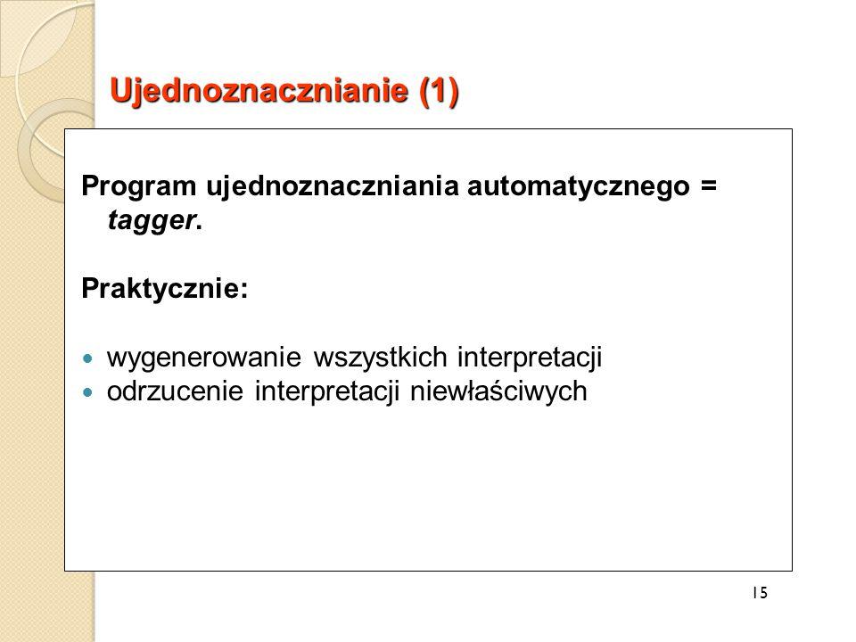 Program ujednoznaczniania automatycznego = tagger.
