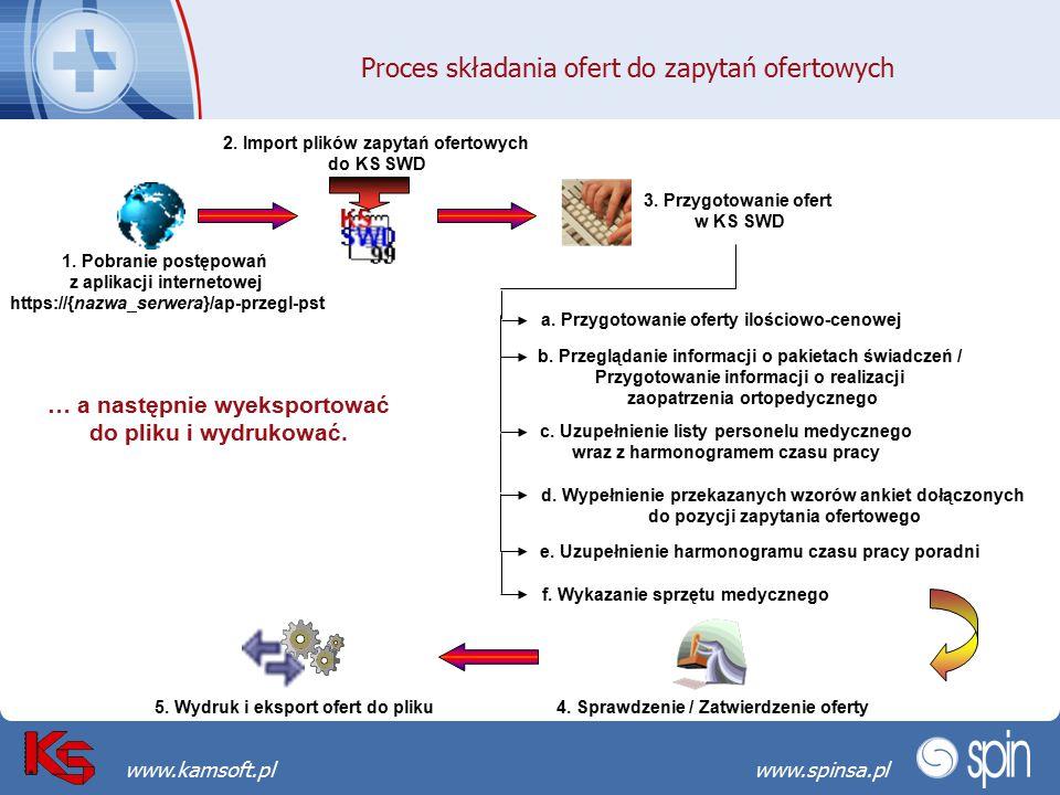 Przekraczamy bariery możliwościwww.spinsa.pl www.kamsoft.pl 1. Pobranie postępowań z aplikacji internetowej https://{nazwa_serwera}/ap-przegl-pst 3. P