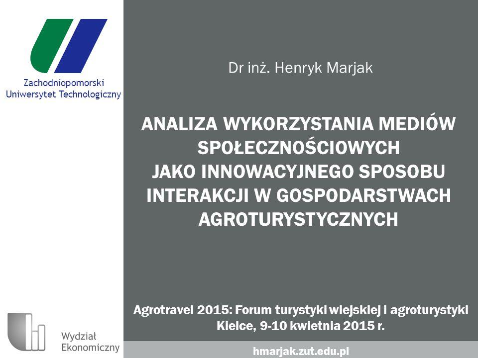 hmarjak.zut.edu.pl Zachodniopomorski Uniwersytet Technologiczny Dr inż.