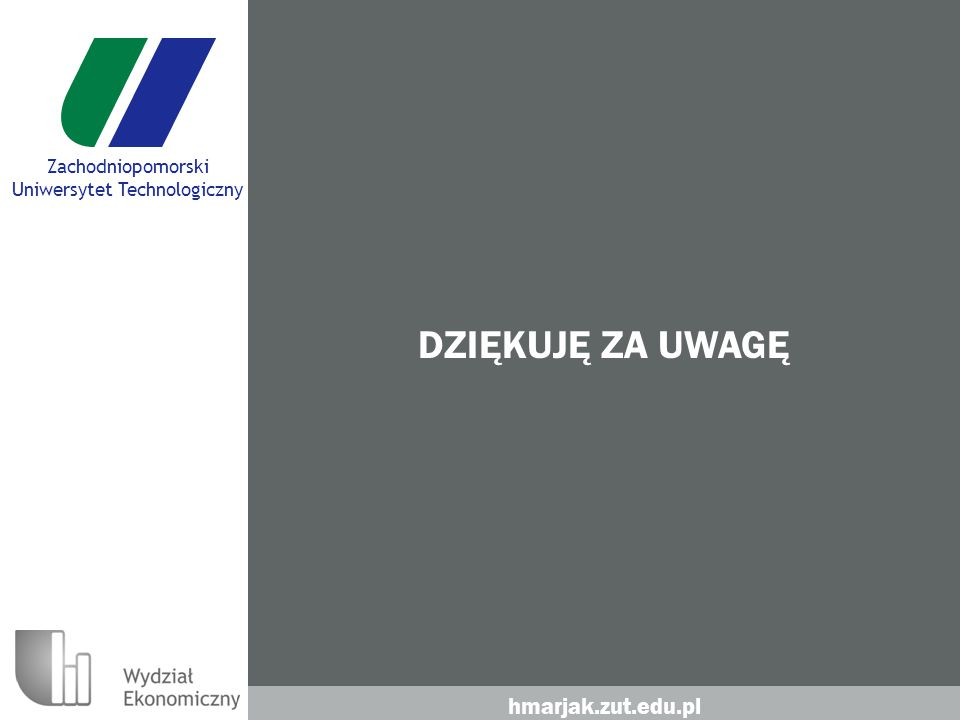 hmarjak.zut.edu.pl Zachodniopomorski Uniwersytet Technologiczny DZIĘKUJĘ ZA UWAGĘ