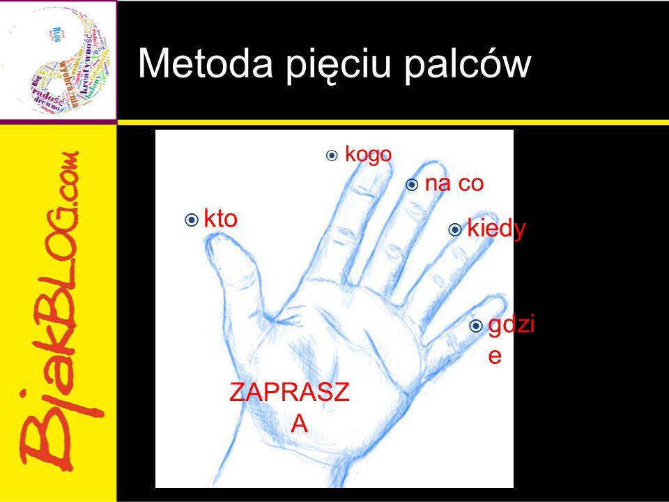Metoda pięciu palców  kogo  na co  kiedy  gdzi e ZAPRASZ A  kto