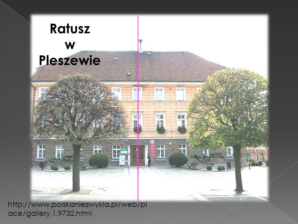 Ratusz w Pleszewie http://www.polskaniezwykla.pl/web/pl ace/gallery,1,9732.html