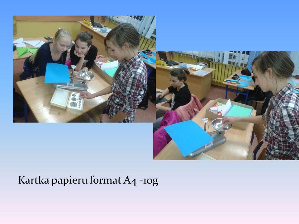 Kartka papieru format A4 -10g