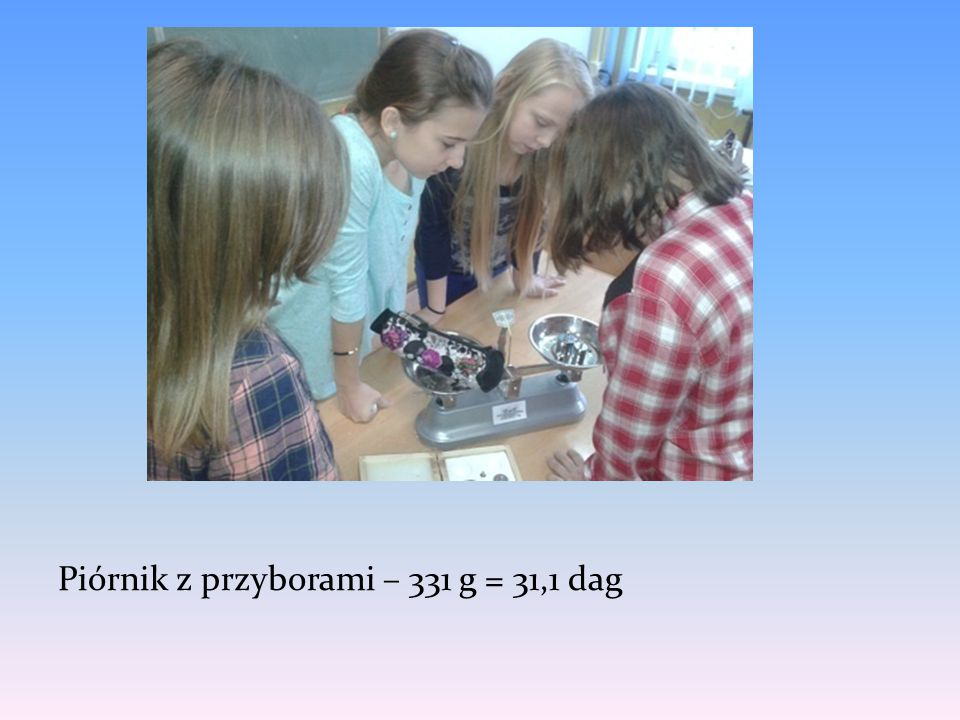 Piórnik z przyborami – 331 g = 31,1 dag